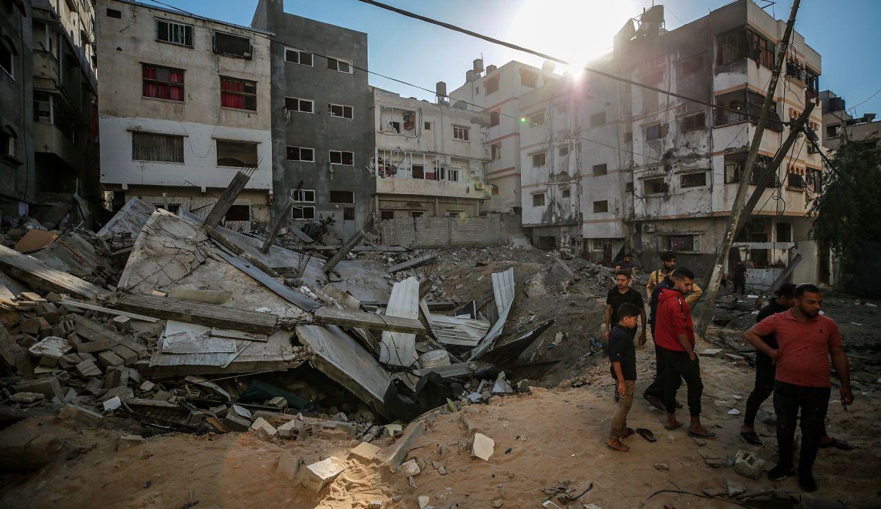 Destrucción en la Franja de Gaza por los ataques de Israel