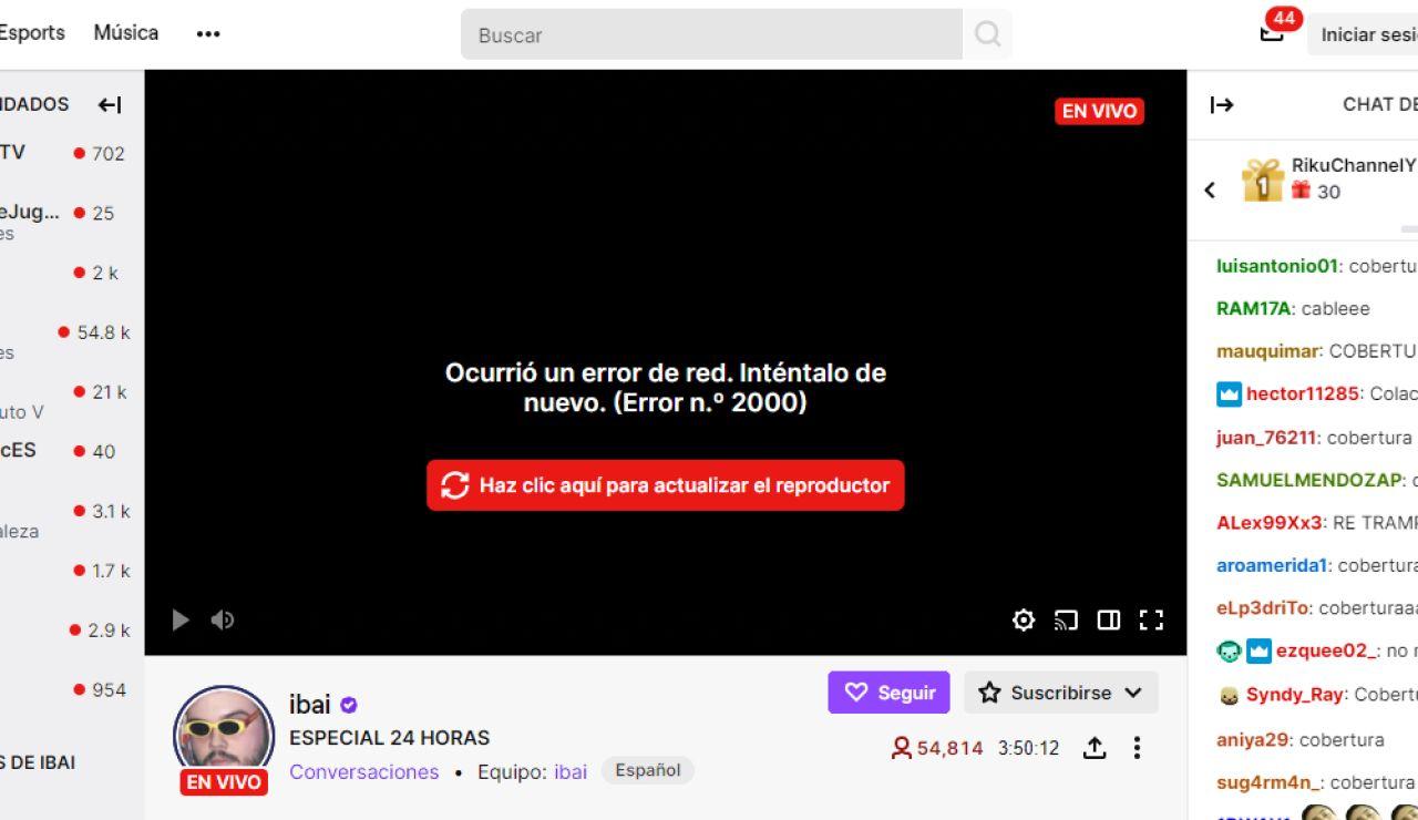 Twitch da error en España y TheGrefg manda un mensaje a Ibai llanos