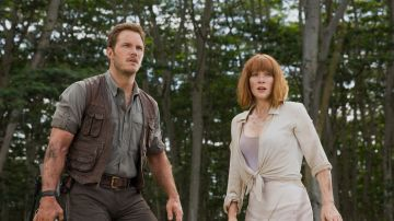 Chris Pratt y Bryce Dallas Howard en 'Jurassic World'