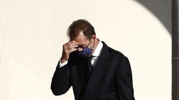 Alessandro Lequio, en el funeral de su hijo