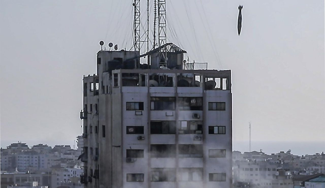 Un misil isrealí cae sobre Gaza