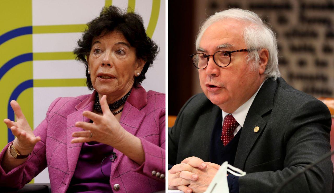 Isabel Celaá y Manuel Castells proponen clases con mascarilla y distancia de seguridad para el próximo curso
