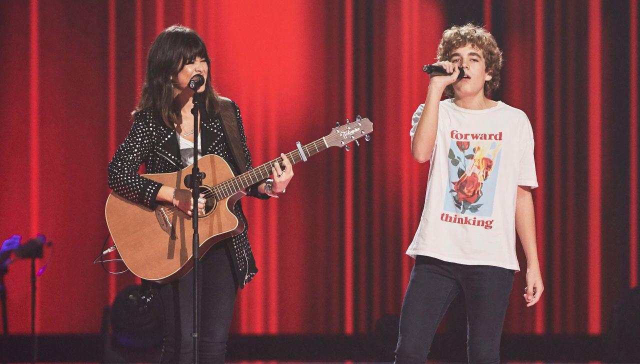 Vanesa Martín canta 'Aún no te has ido' con Marcos Ricbour en las Audiciones a ciegas de 'La Voz Kids'