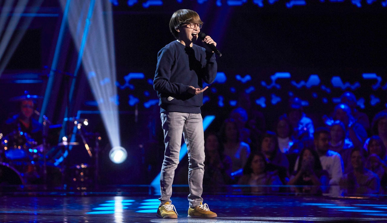 Alejandro Marín canta 'When a man loves a woman' en las Audiciones a ciegas de 'La Voz Kids'