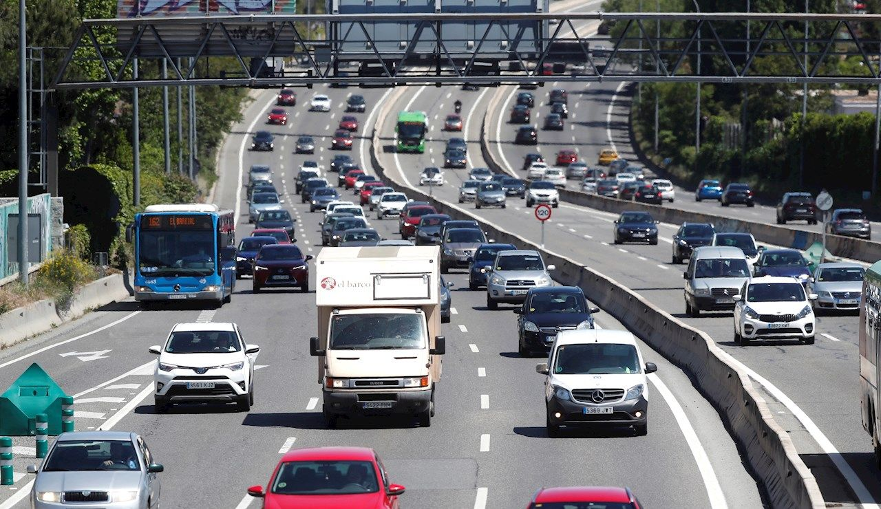 Estado de las carreteras en las salidas de Madrid