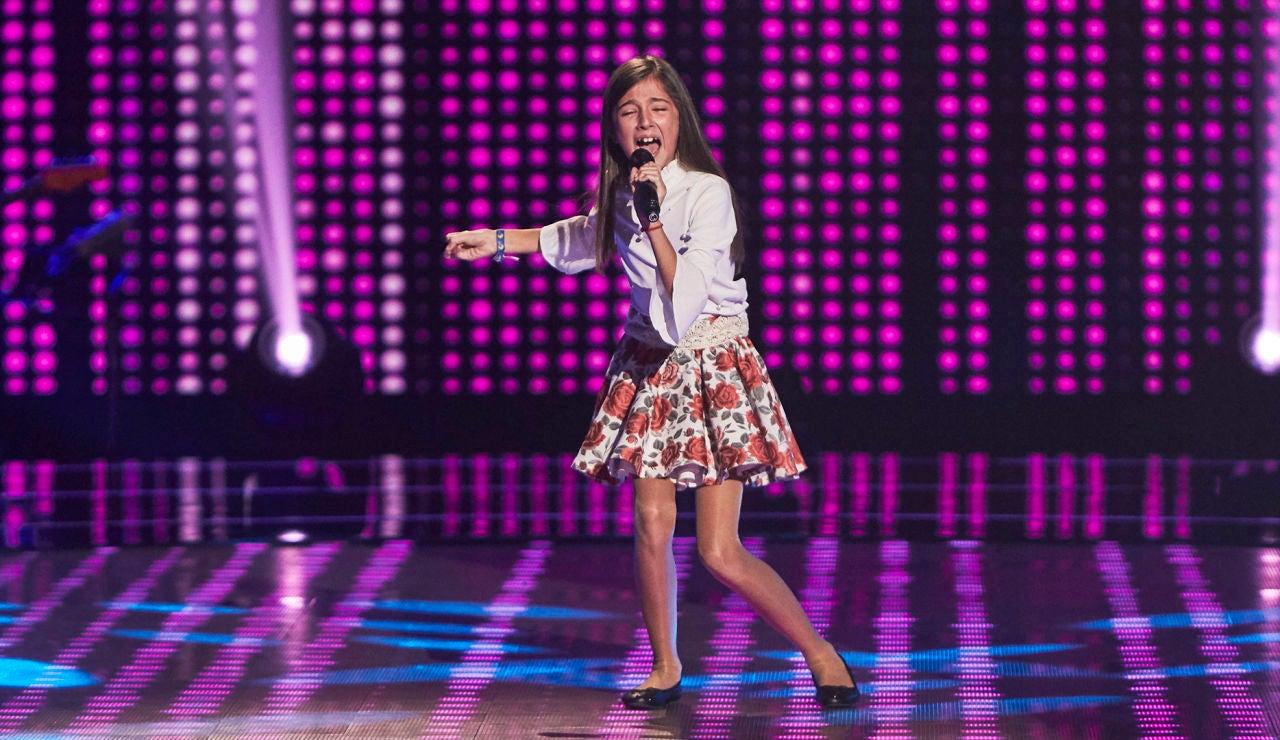 Leonor López se desploma de emoción cantando 'Romance de Juan Osuna' en las Audiciones a ciegas de 'La Voz Kids'