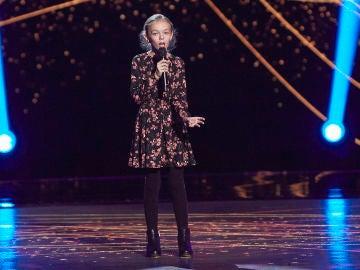María Frías canta 'Castillo de cristal' en las Audiciones a ciegas