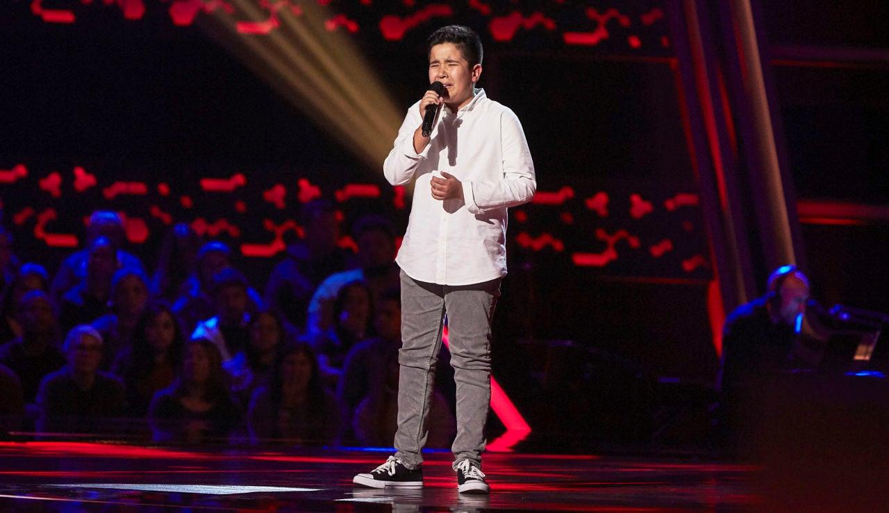 Levi Díaz canta 'Warrior' en las Audiciones a ciegas de 'La Voz Kids'