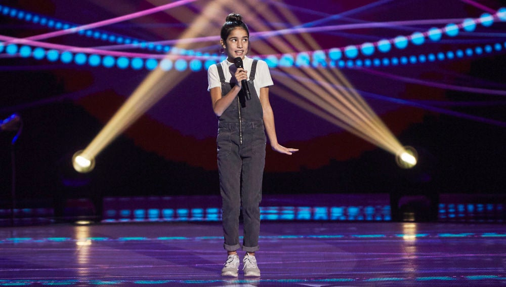 Violeta Marín canta 'Broadway baby' en las Audiciones a ciegas