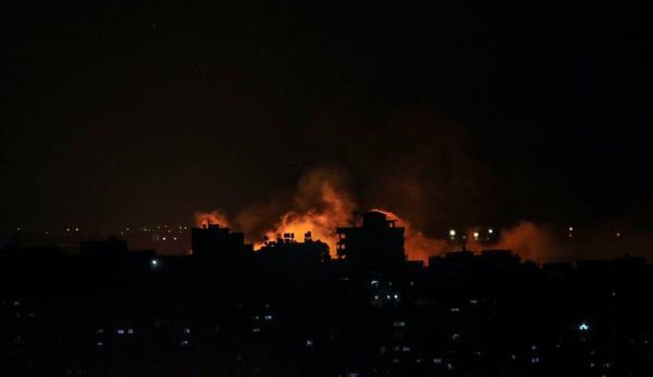 Bombardeos israelíes sobre la franja de Gaza