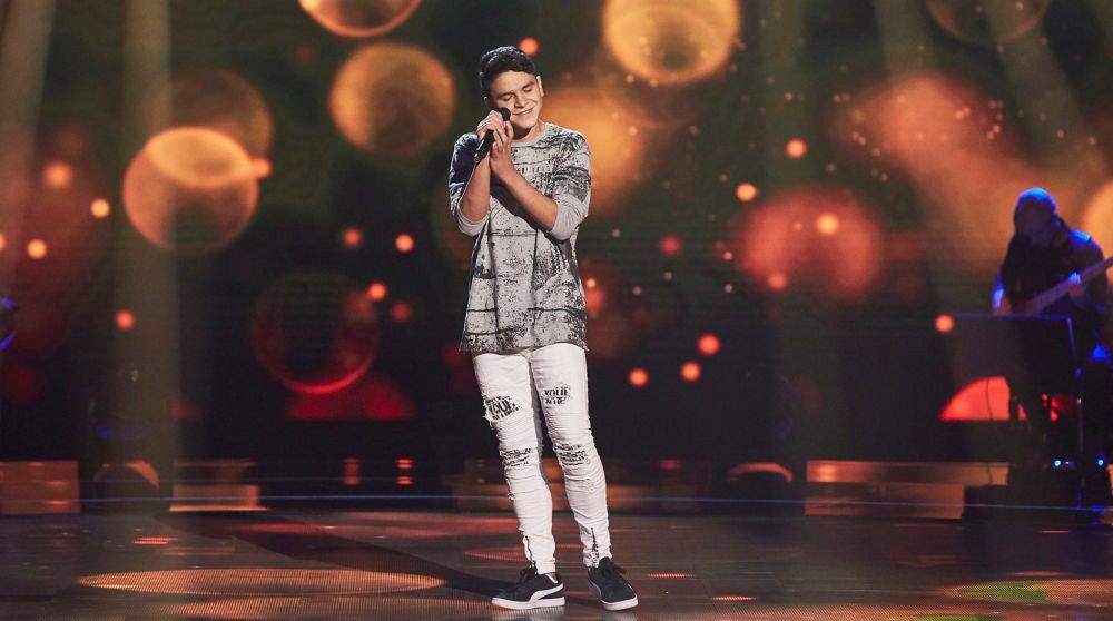 Manuel Ayra canta 'Si a veces hablo de ti' en las Audiciones de 'La Voz Kids'