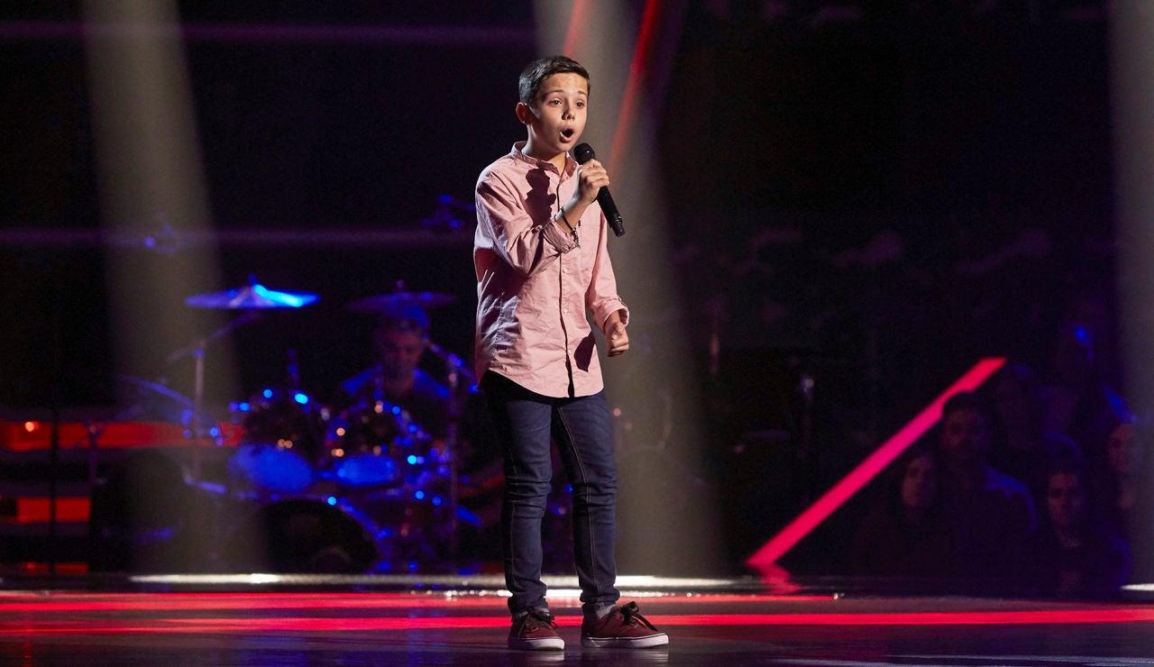 José Carlos López canta 'Hoy tengo ganas de ti' en las Audiciones a ciegas de 'La Voz Kids'
