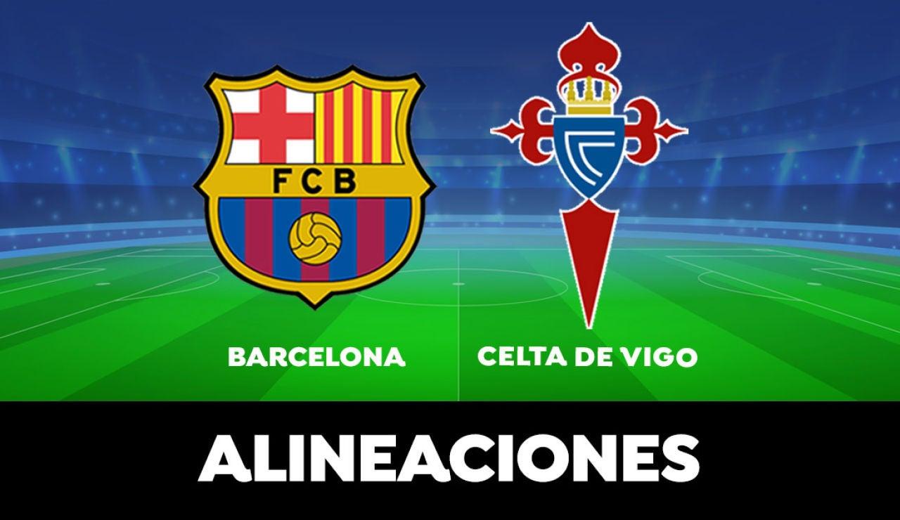 Alineación del Barcelona contra el Celta de Vigo en el partido de la Liga Santander
