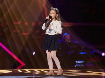 Sofía Pérez canta 'Mi persona favorita' en las Audiciones a ciegas de 'La Voz Kids'