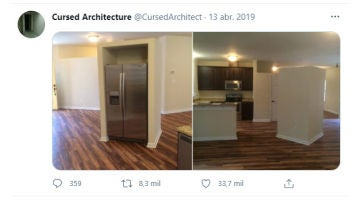 Cuenta de Twitter @cursedarchitect