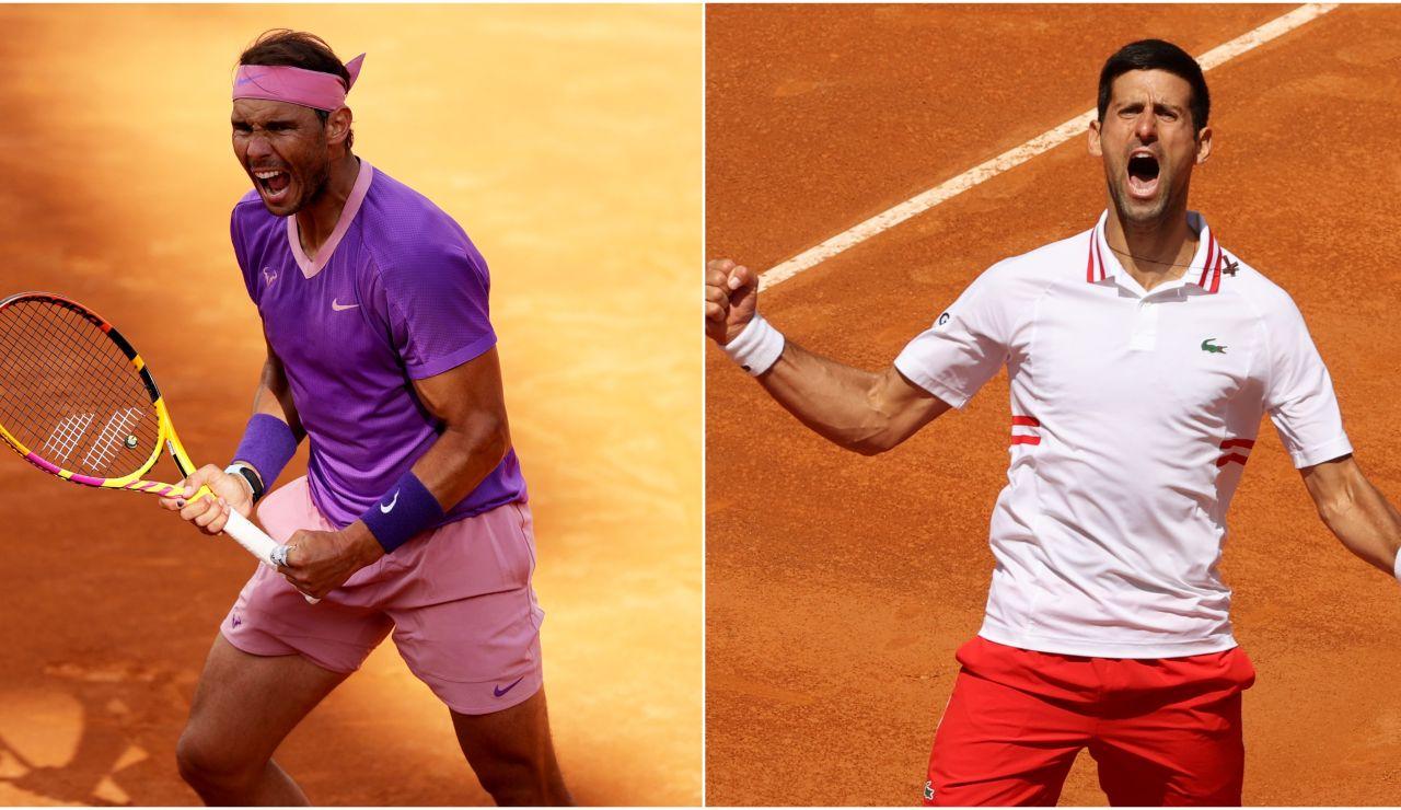 Rafa Nadal - Novak Djokovic: Horario y dónde ver el partido del Masters de Roma en directo