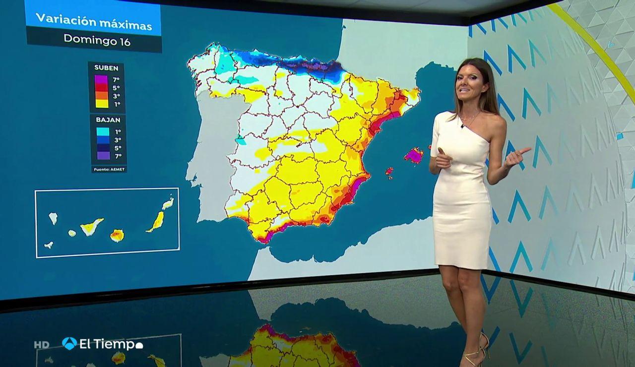 Temperaturas en ascenso en gran parte de la península y en Baleares