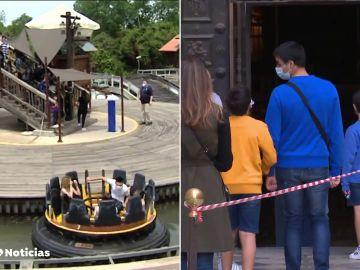 El parque de atracciones de Port Aventura reabre sus puertas tras 7 meses cerrado por la pandemia de coronavirus