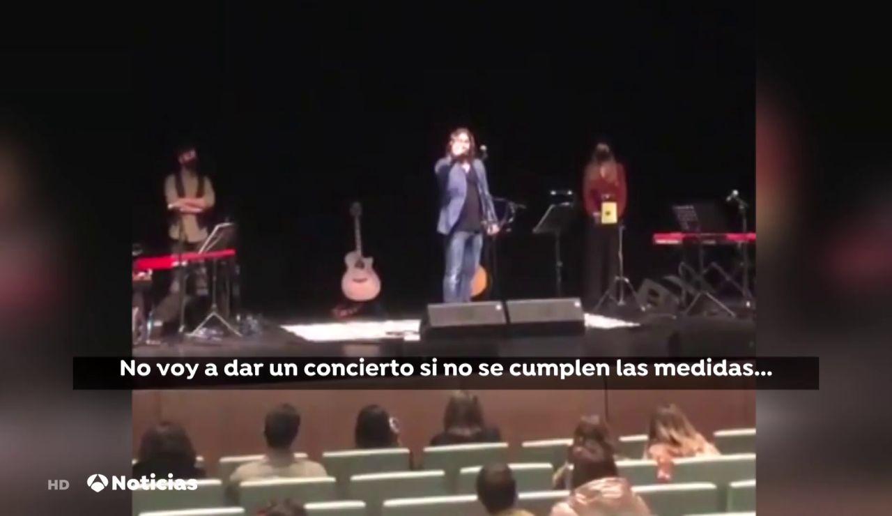 Andrés Suárez suspende su concierto en Vigo porque no había distancia de seguridad