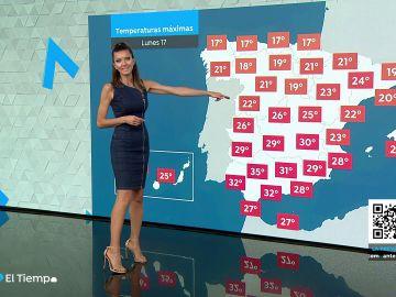 Este domingo se esperan temperaturas altas en el área mediterránea, con valores superiores a 30 grados