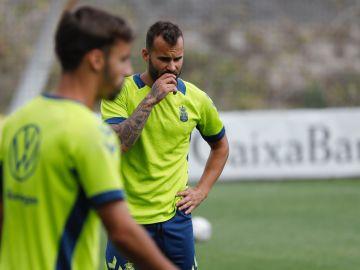 Jesé Rodríguez, en un entrenamiento de la UD Las Palmas