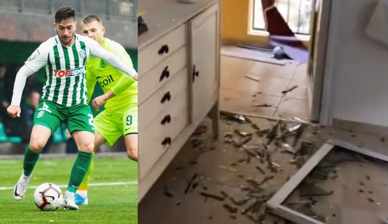"""Un futbolista brasileño que juega en Israel muestra su casa destruida por misil de Hamás: """"Actúan como animales"""""""
