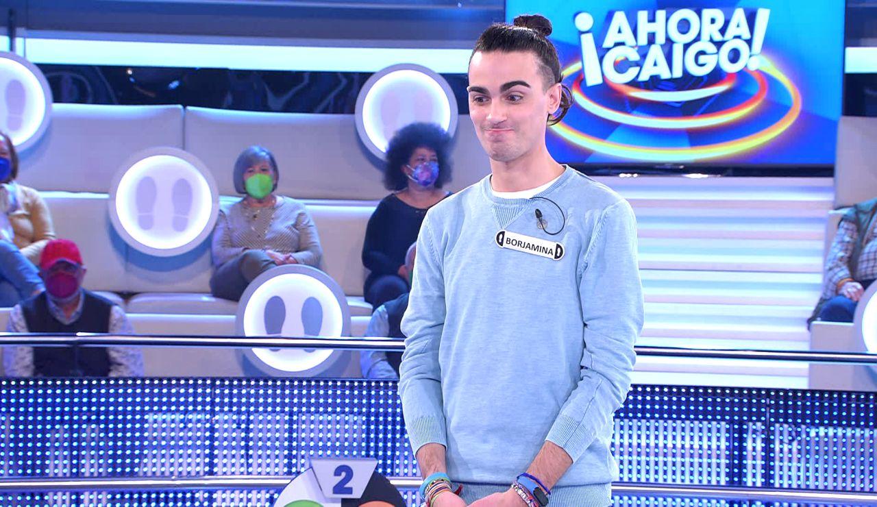 El momento más difícil de Borja tras 29 programas en '¡Ahora caigo!': sin comodines ¡y lo pierde todo!