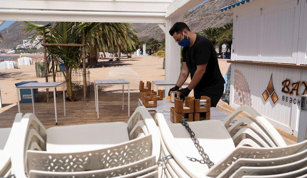 Un local de playa en Canarias