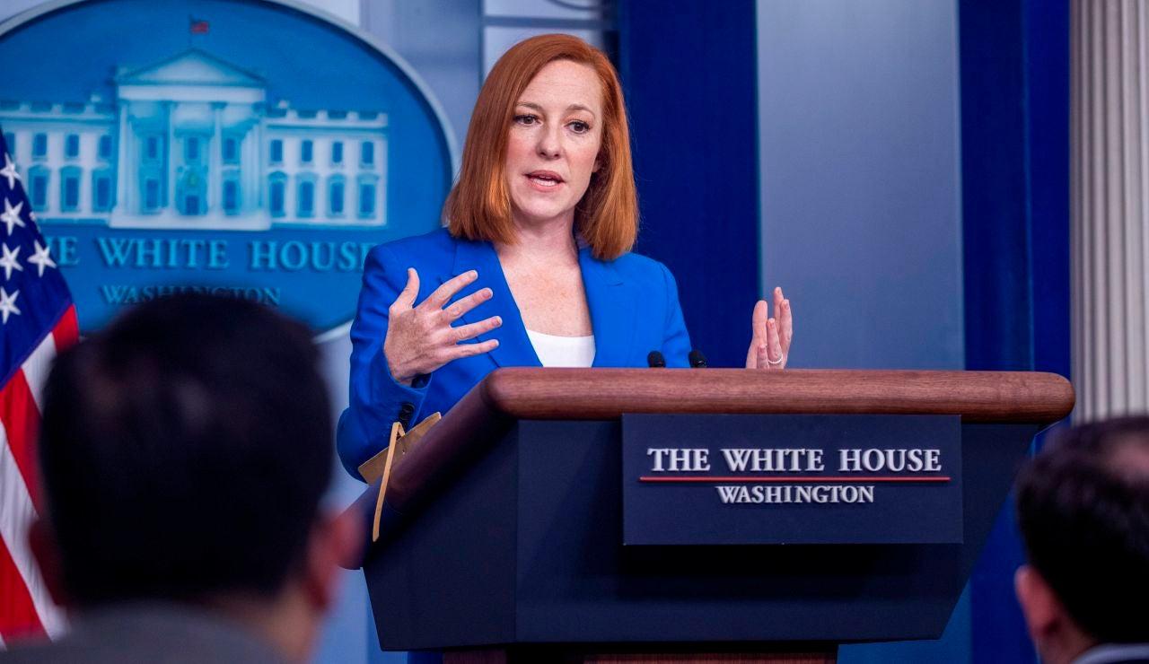 La secretaria de prensa de la Casa Blanca, Jen Psaki