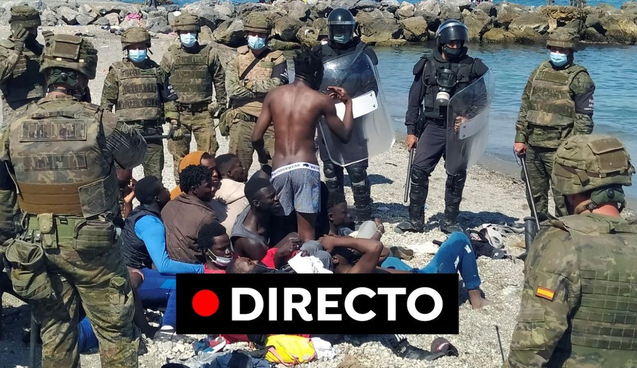 Ceuta última hora: Despliegue del ejército tras la entrada masiva de inmigrantes en directo