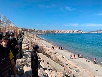 8.000 migrantes llegados a Ceuta