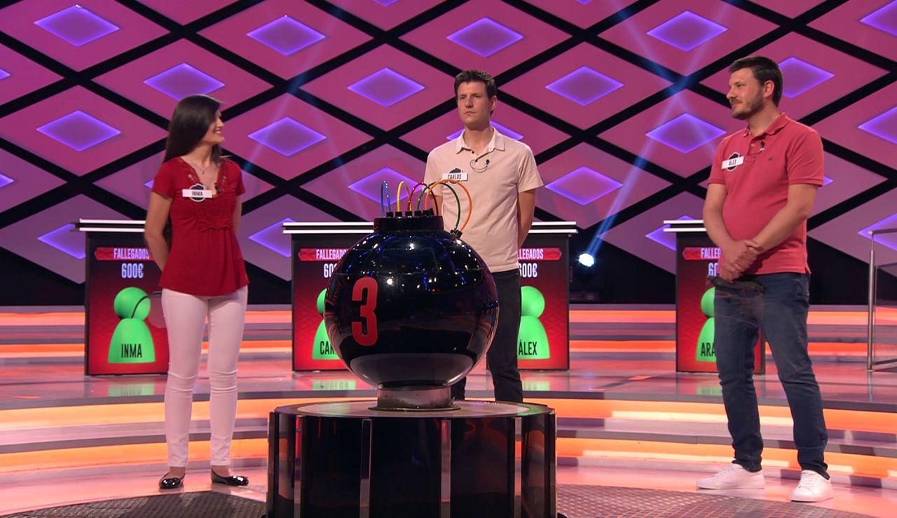 Álex, Carlos e Inma, de 'Fallegados', dejan a Juanra Bonet boquiabierto con su profesión