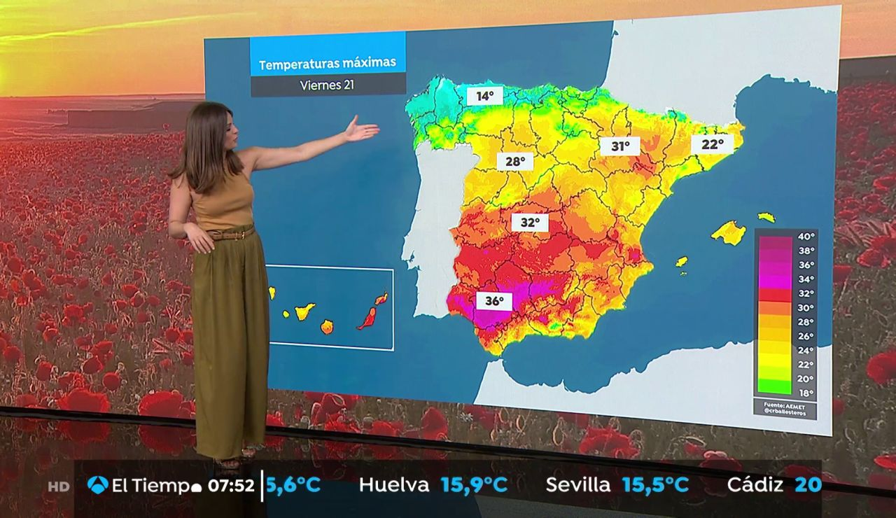 La previsión del tiempo hoy: Ascenso térmico en el nordeste peninsular con lluvias en el Cantábrico