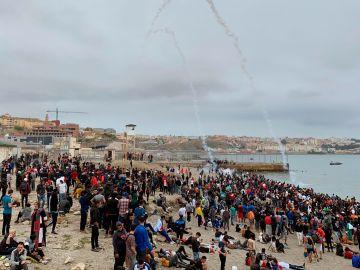 Playa de Fnideq (Castillejos), en Ceuta