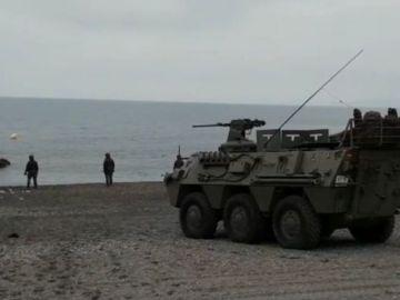 El Ejército se despliega en el Tarajal en Ceuta