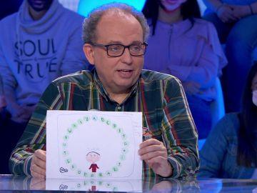 Javier recibe un bonito detalle en el primer aniversario de 'Pasapalabra'