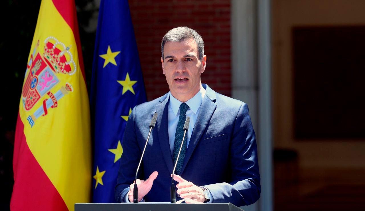 Pedro Sánchez ofrece una rueda de prensa desde La Moncloa