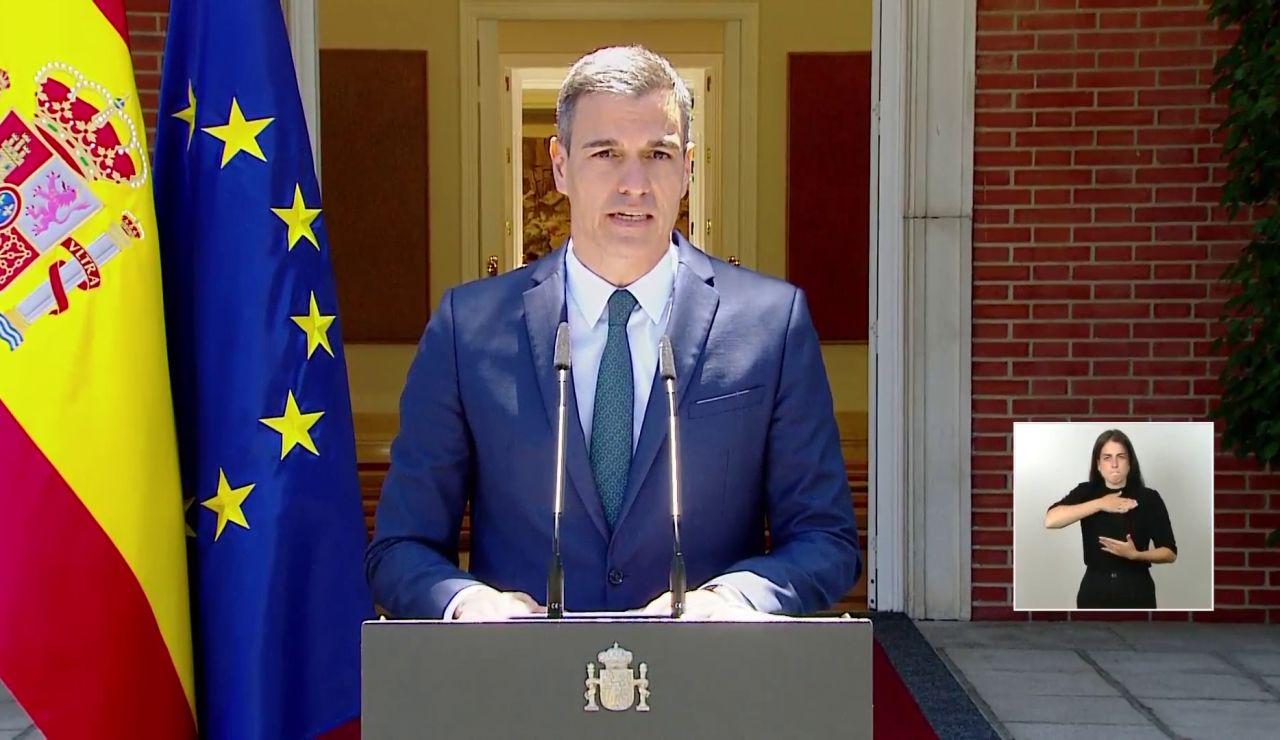 """Pedro Sánchez garantiza la """"integridad y seguridad"""" de Ceuta: """"Vamos a restablecer el orden y nuestras fronteras con la máxima celeridad"""""""