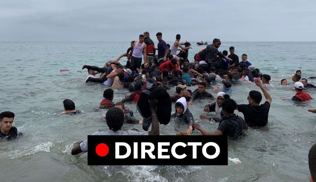 Ceuta | Última hora del ejercito, el presidente de Ceuta y la llegada masiva de inmigrantes, en directo