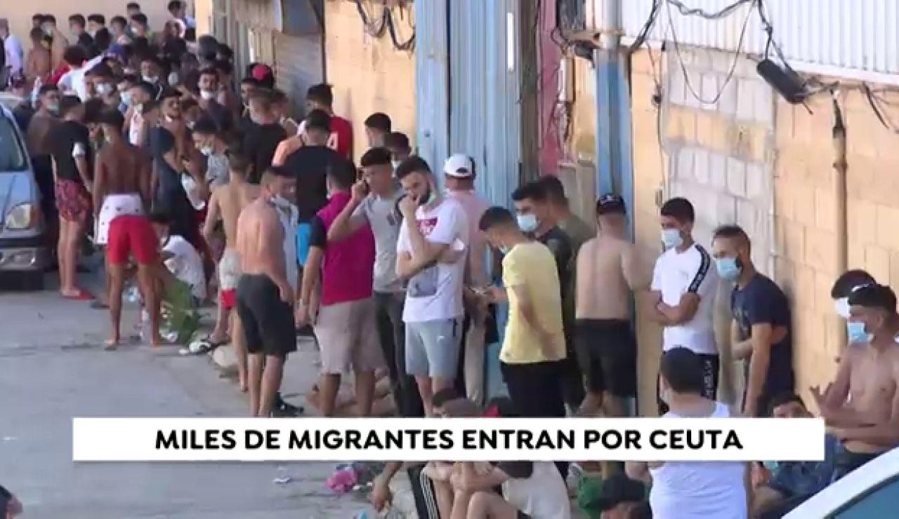 La crisis migratoria de Ceuta, en imágenes