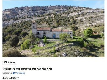 Se vende un monasterio con iglesia y cascada en Soria por 3 millones de euros