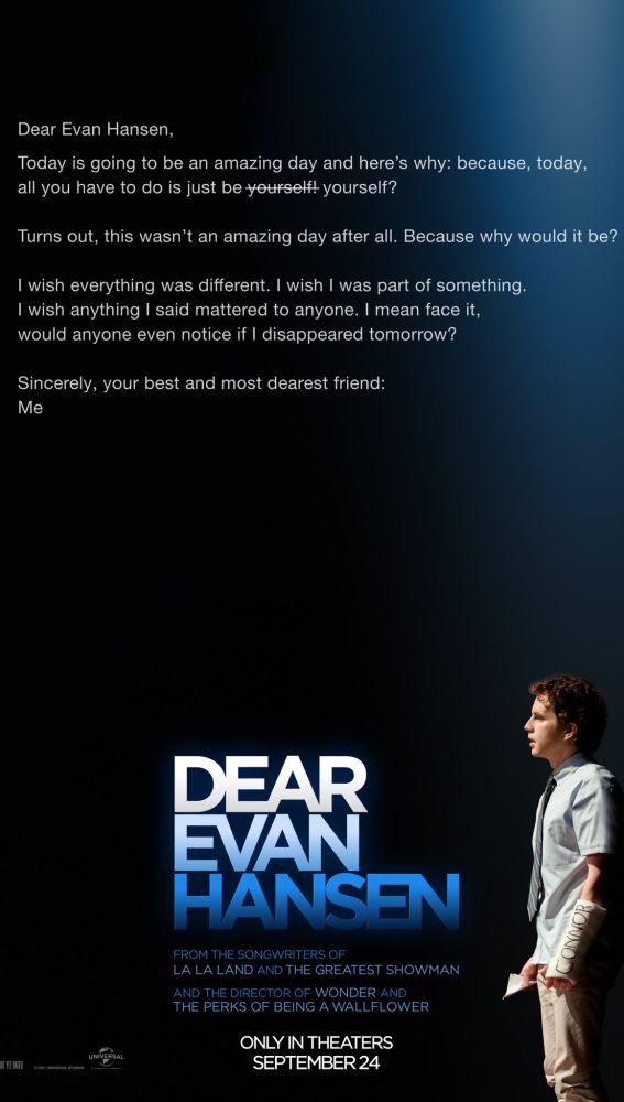 Tráiler de 'Dear Evan Hansen', la película sobre el fenómeno de Broadway  con los compositores de 'La La Land'