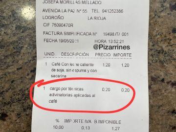 """Las originales formas de cobrar en un bar de Logroño: cargos """"por técnicas adivinatorias"""" o descuentos """"por feos"""""""