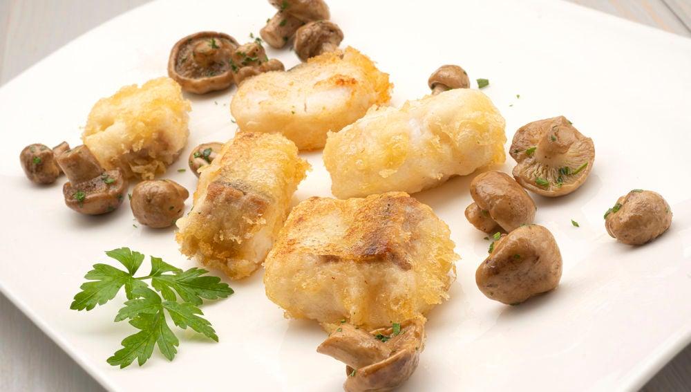 """Receta de merluza en tempura con setas, de Arguiñano: """"En 1 minuto está hecha"""""""