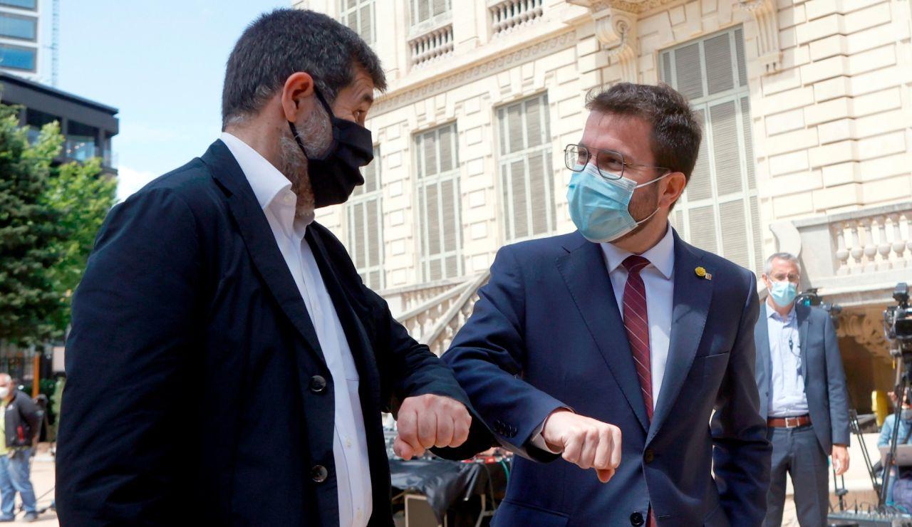 Pere Aragonès y Jordi Sánchez