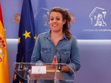 La portavoz parlamentaria de la CUP, Mireia Vehí