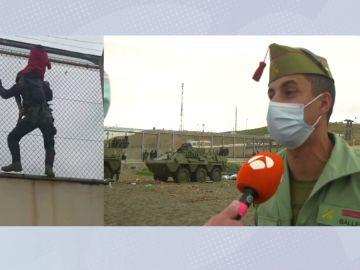 El legionario que rescató a hombros a un niño en la valla de Ceuta: