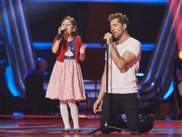 David Bisbal canta 'Mi princesa' con Alison Fernández en las Audiciones a ciegas de 'La Voz Kids'
