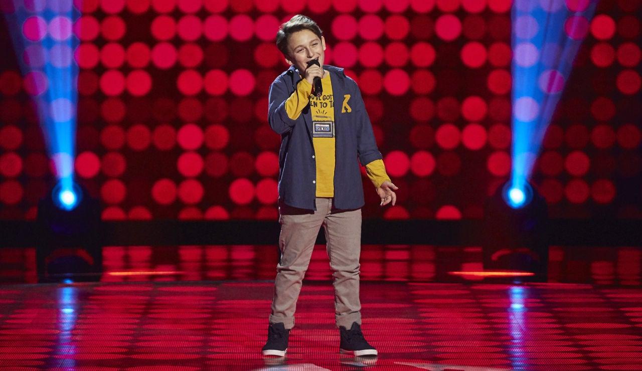 César Albiach canta 'Falling in love' en las Audiciones a ciegas de 'La Voz Kids'