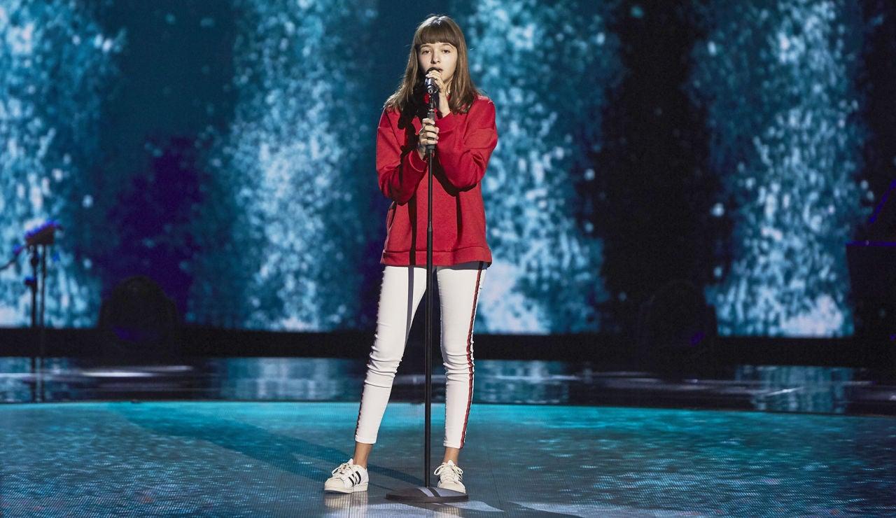 Inés Burgos canta 'Always remember us' en las Audiciones a ciegas de 'La Voz Kids'